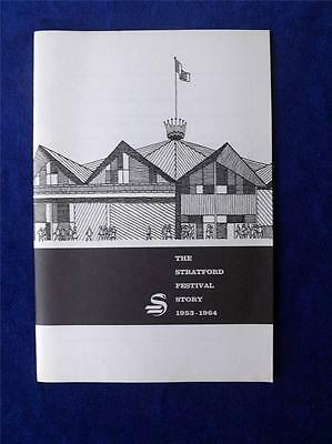 Stratford Festival Story Booklet Vintage 1953-1964 Theatre Plays Canada