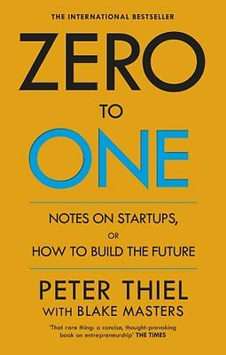 Zero to One Notes on Start-Ups, or How to Build the Future NUEVO Brossura Libro