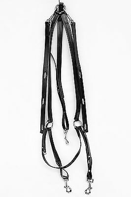 Buxton Breastplate for Trotting - Black PVC