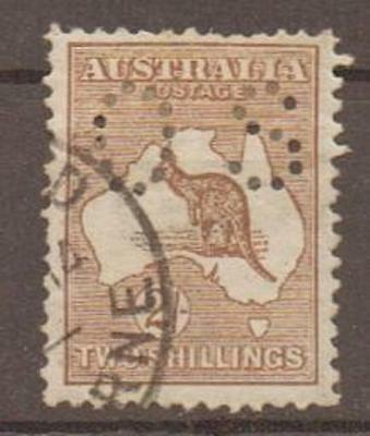 Australia Sgo26 1914 2/= Brown Official Used