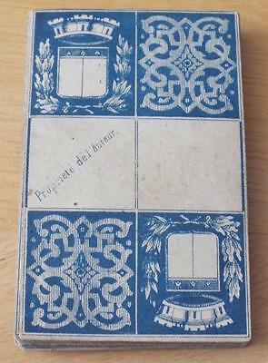 ANTIQUE 1900 FRENCH PLAYING CARD DOMINOES GAME c1900
