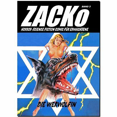 ZACKo 3 Die Werwölfin HORROR Fumetti Neri EROTIK Abenteuer Science Fiction