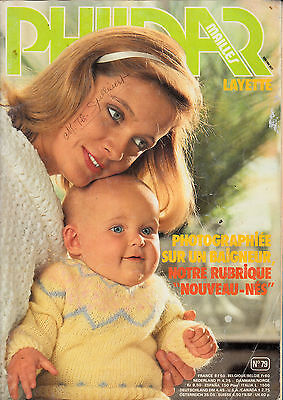 CATALOGUE TRICOT PHILDAR MAILLES LAYETTE 45 MODELES N° 79 brassiere chaussons