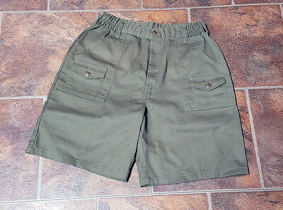 Official Boy Scouts of America Green Cargo Shorts Adult Size Large