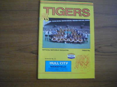 HULL CITY v MANSFIELD TOWN - FEBRUARY 27th 1982