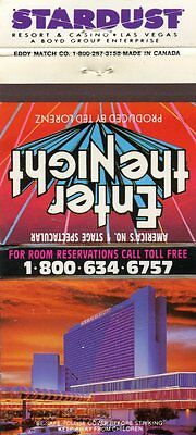 Stardust Resort Casino, Enter the Night, Las Vegas, Nevada Matchbook