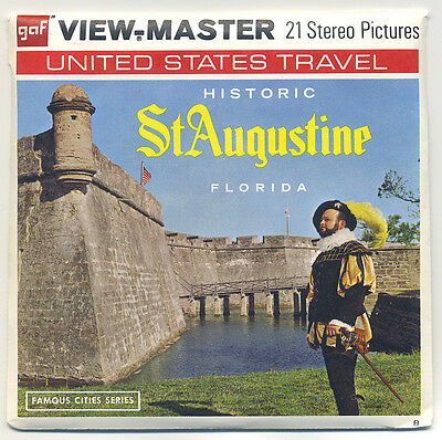 "Historic St. AUGUSTINE Florida GAF View-Master Packet A-981 ""B"" edition MINT"