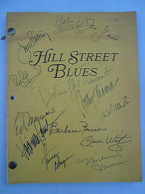 Hill Street Blues Original Shooting Revised Script Signed by 13 Main Cast Jacket
