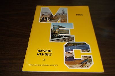 1965 Maine Central Railroad Company Mec Annual Report