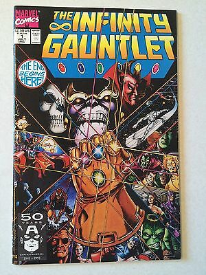 The Infinity Gauntlet #1 Thanos VF- 7.5 condition Starlin George Perez Avengers