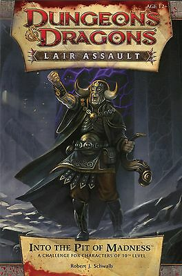 D and D 4th Edition Lair Assault INTO THE PIT OF MADNESS Game Day Sealed Unused