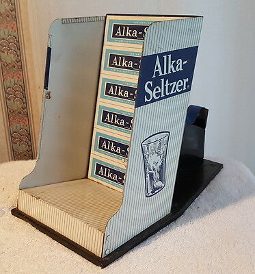Vintage Alka-Seltzer Tin Store Display Wt. Tape Disp.  C. 1940