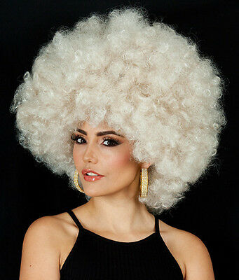 HUGE LADIES 70's Super Jumbo Dark Blonde Disco Afro Costume Wig (High Quality)