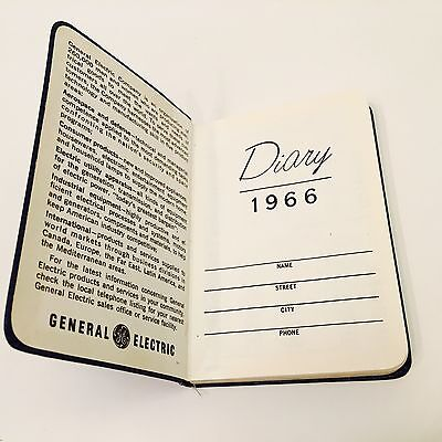 GE 1966 Diary General Electric Day Planner & Mini Reference Book Unused