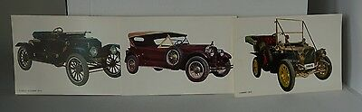 BV Postcards Spain - Stanley Steamer 1014 , No Idea? and a Clement 1903