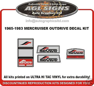 1965 - 1983 Pre Alpha One Outdrive Decal Kit   Mercruiser, reproduction