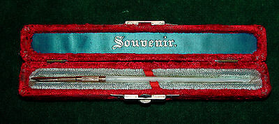 Antique E.J. Wirtz of Chicago Gold & Mother of Pearl Dip Pen