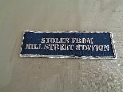 Vintage Hill Street Blues TV Show Crew Hat Jacket Swag Patch stolen from station