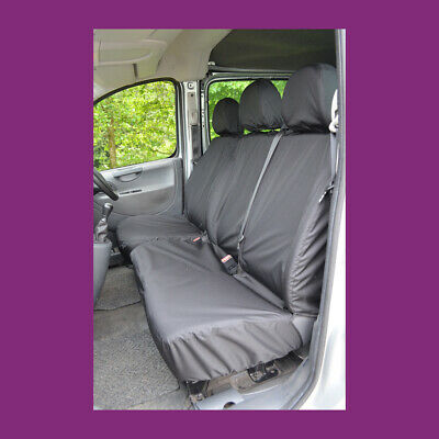 Peugeot Expert 2007-2016 Tailored & Waterproof Black Front Seat Covers UKMade