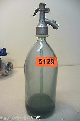 Nr. 5129 .   Alte Sodaflasche  Siphonflasche 1 L  Old Soda Siphon Seltzer Bottle