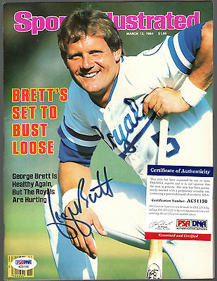 George Brett Signed Autographed March 1984 Sports Illustrated Psa/dna #ac51130
