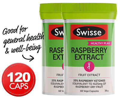 2 x Swisse Raspberry Extract 60 Caps