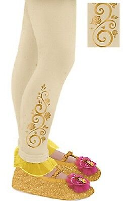 Disney Belle Child Size Footless Tights Size 4-6