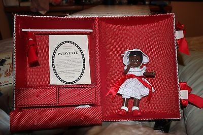 Effanbee Black Patsyette Doll/Trunk Set 1928 Repop Limited Ed 360 For 1997 UFDC