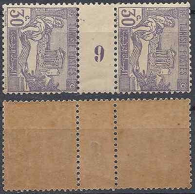 France Colonie Tunisie N°102 Millésime 6 - Neuf * (Gomme 2Nd Choix) - Cote 10€