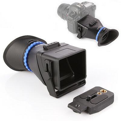 """Pro 3.0X LCD Screen Viewfinder For 3""""-3.2"""" CANON Nikon Sony Olympus DSLR Cameras"""