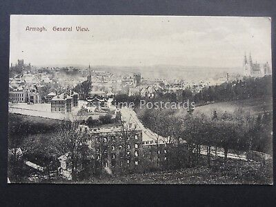 N Ireland ARMAGH General Panoramic View c1908 Old Postcard by H. Allison & Son