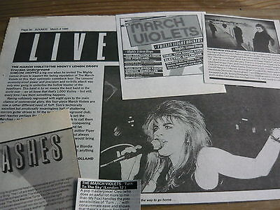 The March Violets - Magazine Cuttings Collection (Ref Z4)