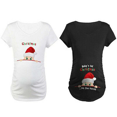 Womens Ladies Pregnancy Cotton T Shirt - Pregnant maternity T-Shirt Gift New Top