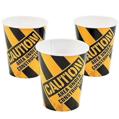 Construction Birthday Party Supplies Paper Cups Cup (Pack Of 8)