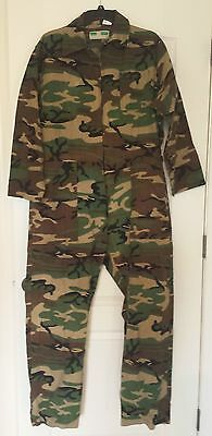 Game Winner Sportswear Non Insulated Coverall 100% Cotton 46 48 WOODLAND PATTERN