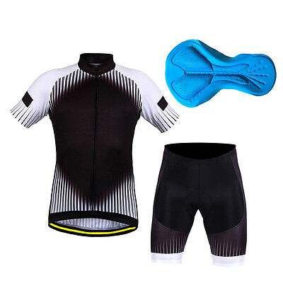 New Mens Cycling Bike Short Sleeve Clothing Bicycle Set Suit Jersey+Shorts ZA