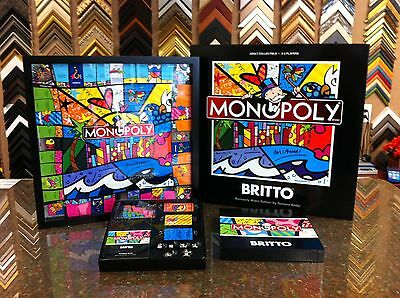 Romero Britto Hand Signed Monopoly Game Limited Edition * Like Charles Fazzino