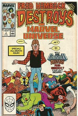 Fred Hembeck Destroys the Marvel Universe Vol 1 Issue 1 Marvel Comics July 1989