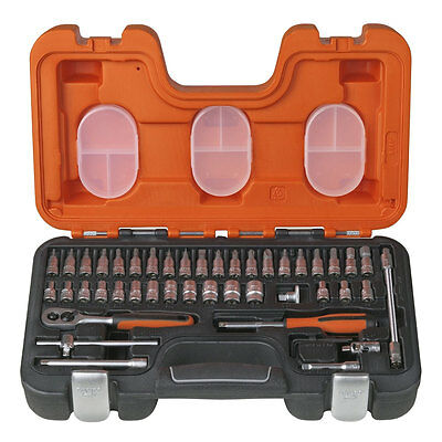 "BAHCO S460 46 Piece Metric 1/4"" Ratchet, Sockets & Screwdriver Bit Set, BAHS460"