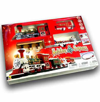 Christmas Holiday Express Train Set Toy Festive Musical & Light Up Decoration