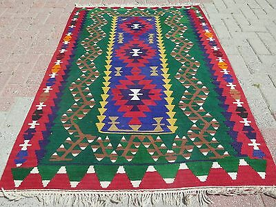 "Vintage Turkish Wool Rugs, Small Antalya Kilim Rug 42,9""x64,9"" Arearugs,Carpet"