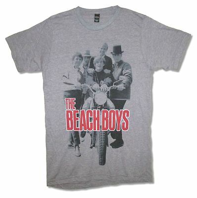 Beach Boys Shady Moto Mens Charcoal T Shirt New Official Adult