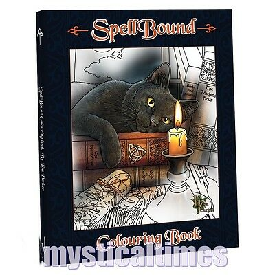 New * Lisa Parker * Spellbound Fantasy Art Therapy Colouring Book Wolves Cats