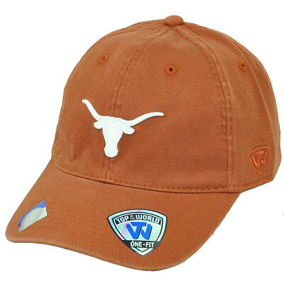 hot sale online 54988 31ab5 NCAA Top of the World Texas Longhorns Flex Fit One Size Relaxed Hat Cap  Orange