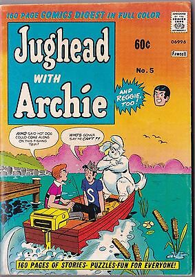 Vintage 1974 Jughead with Archie Comic Book Digest #5
