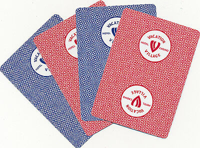 Casino Playing Cards - Vacation Village 2 New Decks Uncut W/ Jokers - Free S/H*