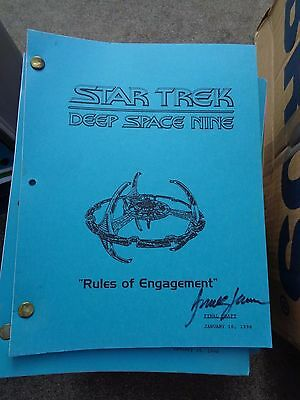 Star Trek Deep Space Nine Stage Used Crew Script Rules of Engagement