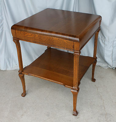 Antique Quarter Sawn Oak Parlor Table – Built Extra Sturdy