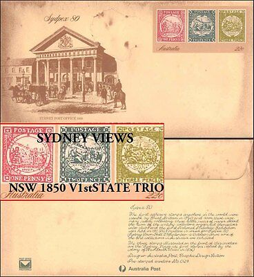 Australian Mint Commemorative Sydney Views Envelope First NSW State Stamps Issue