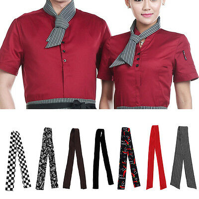 Practical Unisex Catering Chefs Scarf Catering Neckerchief waiter Neck Wear